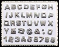 emblèmes en plastique chromé achat en gros de-400pcs / lot 3D voiture emblème automatique insignes autocollants lettres chromées autocollants autocollants de voiture autocollants pour voiture