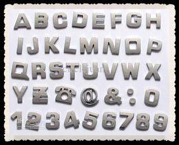 Wholesale Decal Auto - 400pcs lot 3D Car Auto Emblem Badge Decals Chrome Letters Stickers Car stickers Bumper Stickers