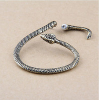 Wholesale Metal Wrap Snake - 30%Off Vintage Silver Gold Metal Snake cuff Earrings Ear Cuff Jewelry Women Ear Cuffs Wraps Clips Earrings Stock