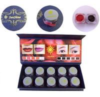 Wholesale Permanent Makeup Sunshine - Wholesale- Hot Sale High Quality Permanent Makeup Ink SunShine 10 Color Pigment Cosmetic 5ML Bottle Kits Supply