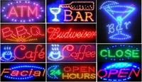 Wholesale New ANIMATED BAR NEON LED OPEN SIGN X10 ON OFF SWITCH HANGING CHAIN OF Styles Welcome