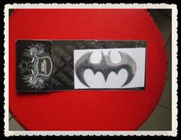 Wholesale Batman Car Stickers Decals - 30PCS LOT Car Stickers decals for soft PVC gold & silver mix colors Batman stickers on car