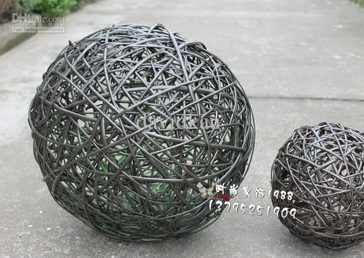 40 Woven Wicker Balls Of Different Sizes Home Decoration Ball Inspiration Rattan Decorative Balls