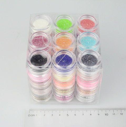 1 세트 / 많은 45 색상 반짝이 장식 파우더 껍질 구슬 네일 아트에 대 한 다채로운 반짝이 Porder