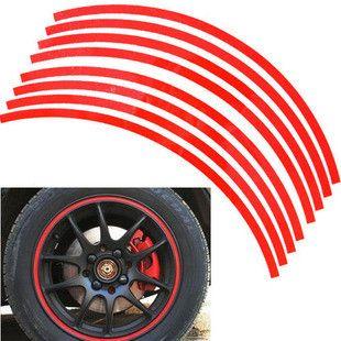 / groothandel auto-styling reflecterende wiel velg streep stickers decals 17 '' 18 '' 19 '' veel kleuren