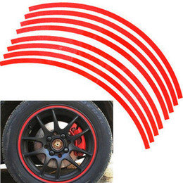 Wholesale Wheel Stripes 17 - 50SET LOT Wholesale Car-styling Reflective Wheel Rim Stripe Stickers Decals 17'' 18'' 19'' Many colors