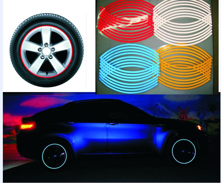 "14"" Reflective wheel circle stickers wheel hub stickers Car stickers"