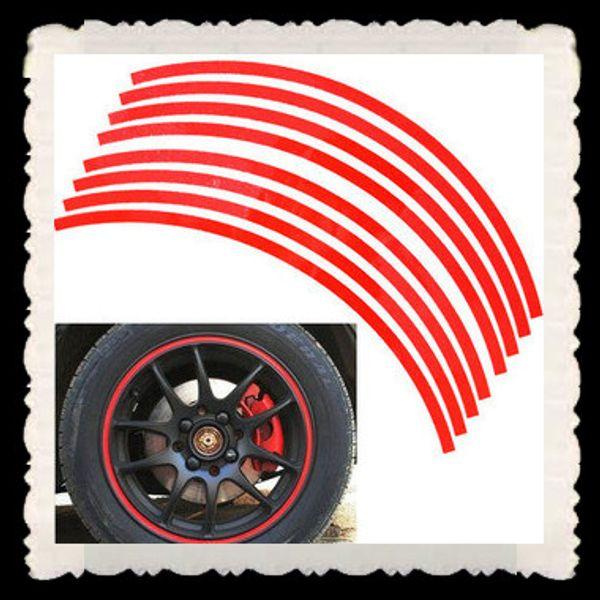 "100set/LOT 14"" Reflective wheel circle stickers wheel hub stickers Car stickers"