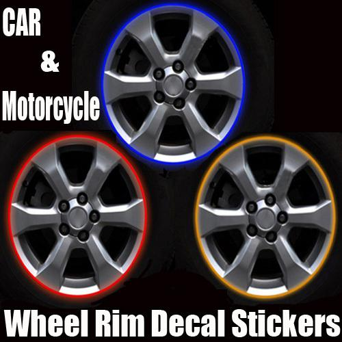 Funny Car Decals Stickers Car Motorcycle Rim Stripes Wheel Decals