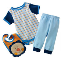 ingrosso gli insiemi dei tute dei ragazzi-Tute da bambino tutine pagliaccetti bavaglino pantaloni tute pantaloni neonati maschi camicie magliette completi ZW685