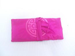 Schmuck seidenbeutel online-Big Plain Schmuck Roll Travel 10pcs Mix Farbe 11 * 7 Zoll Seide Stickerei Reißverschluss Seil Beutel