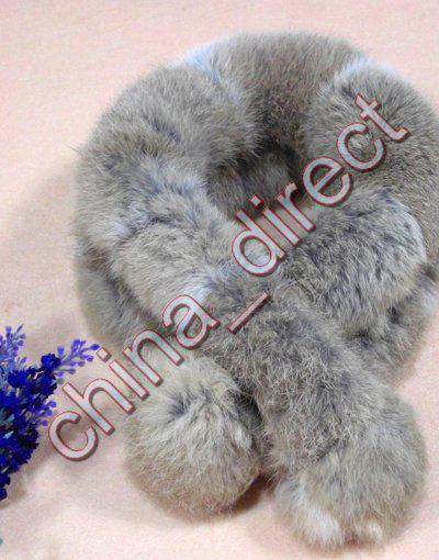 Panie Kobiety Rabbit Fur Scarf Fur Scarves Neck Warmer Neckscarf 20 sztuk / partia # 1934
