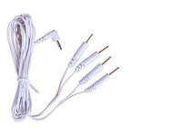 masaj cihazı için elektrot yastıkları toptan satış-Dijital terapi makinesi zayıflama makinesi massager.2.5mm kafa için 4-yollu Elektrot Pedleri Bağlayıcı Tel