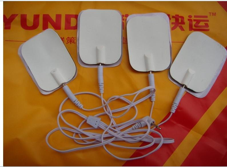 4-way Electrode Pads Connector Wire for digital therapy machine slimming machine massager.2.5mm head