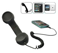 Wholesale Retro Handset Free Shipping - 3.5mm Radiation Free antique style Retro mobile phone handset headset for iphone, ipad   Smartphone DHL FEDEX FREE SHIPPING