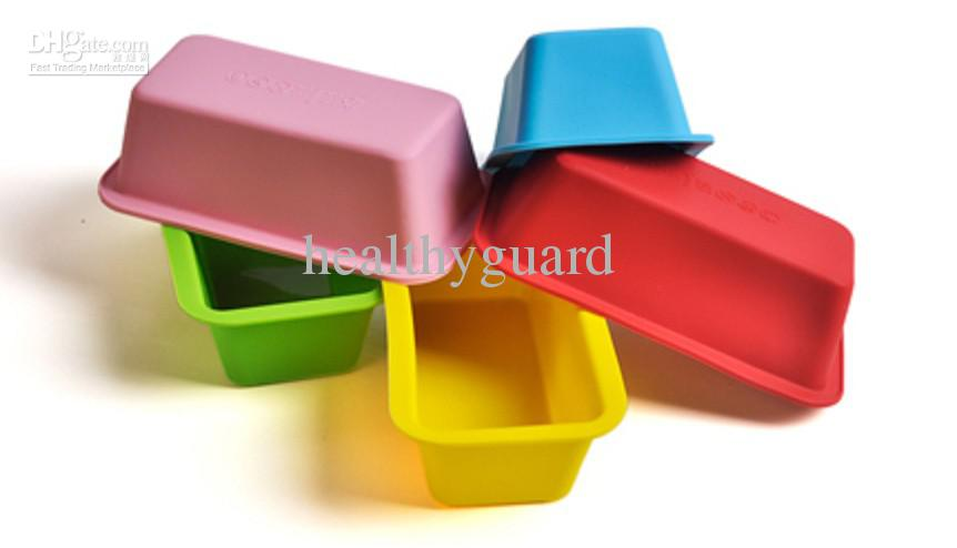 11cm Rectangle Shaped Bread Cake Pans Silicone Cake Mould Baking Moulds