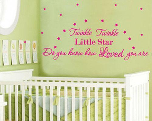 10pcs Twinkle Twinkle Little Star Wall Quote Nuesry Wall Decal Decor Sticker  Vinyl Wall Art Stickers Part 67