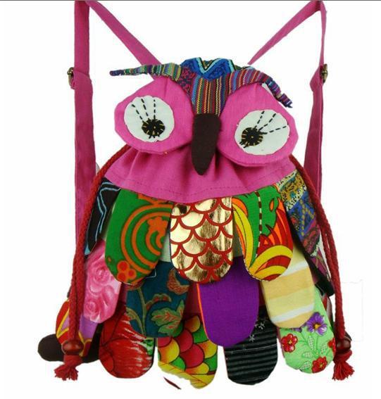 Hand make baby Lovely Fabrics hand bag Childrens OWL Satchel bag Lady Shoulder bag