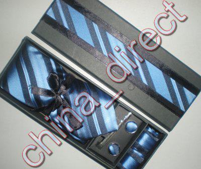 Luxus Seidenkrawatte Set Seide NeckTie Hanky Manschettenknöpfe Handgefertigte Krawatte Krawatte mit Box 10 Sätze / Los # 1942