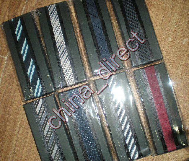 Cravate De Soie De Luxe Cravate En Soie Boutons De Manchette Hanky À La Main Cravate TIE avec boîte / # 1942