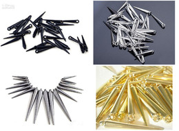 Wholesale Wife Quality - new 2000pcs CCP Basketball Wives Earrings Spikes Beads Golden Spikes High Quality Mix colors