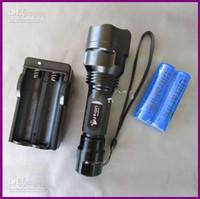 ingrosso lampadine ultrafire-Commercio all'ingrosso - UltraFire C8 T6 1300Lm CREE XM-L LED Torcia lampada lampadina riflettore C8T6 + 2x18650 batteria e caricabatterie