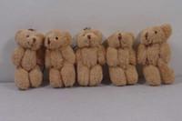 osos de peluche lindos gratis al por mayor-Cute Teddy Bear Plush Doll Toy Keychain 3