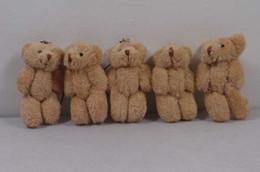 "Wholesale Teddy Bears Keychain - Cute Teddy Bear Plush Doll Toy Keychain 3"" baby kids phone keychain free shipping"