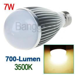 Dimmable Energy Saving Bulbs Canada - Dimmable super bright E27 LED Globe Ball BULB Lamp lights 7W cool white warm white energy saving