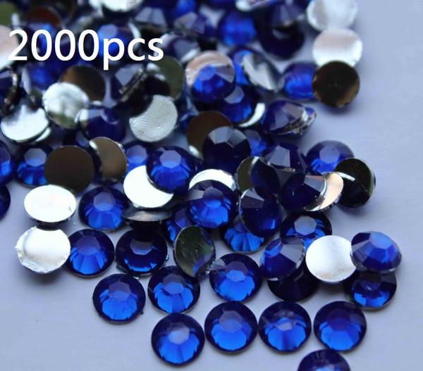 2000шт 4.8 мм синий плоской задней акриловые стразы драгоценные камни 10 цветов для вас выбрать