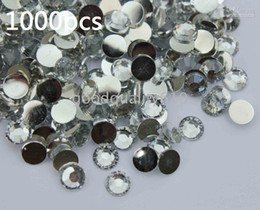 Flat Back Gems Australia - 1000pcs 6.5mm Clear Flat Back Resin Rhinestones Gems