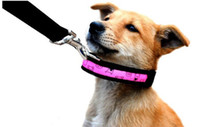 Wholesale Dog Collars Best Quality - cheaper price best quality flashing LED dog collar, led pet collar,flashing dog collar 5sizes