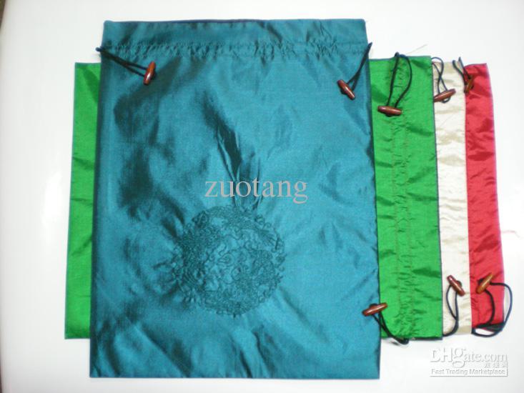 刺繍ドラゴントラベルブラジャーストレージランジェリーバッグドローストリング中国民族シルク靴カバー収納包装袋送料無料