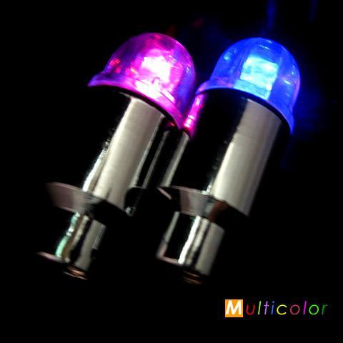 top popular Free shipping 40pcs Colorful Car   Bike wheel Tire Valve Cap flash LED Light 2021