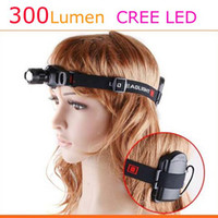 Wholesale 5w Headlamp - New 5W 300Lm CREE LED HeadLight 3 Mode Waterproof Headlamp ZOOMABLE Hiking Headlight outdoor light