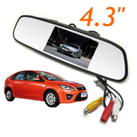 Wholesale 4 quot TFT Screen LCD Car Rearview Mirror Monitor For Car DVR Rear View Camera