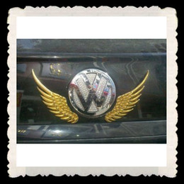 Wholesale Eagles Car Stickers - 50PCS LOT Wholesale Funny Bumper Stickers 3D Soft PVC eagle wings Decals Funny Cool Car Sticker