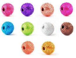 loose beads 8-10MM Disco ball beads for DIY bracelets 120pcs lot Different Colors available Fashion Jewelry on Sale