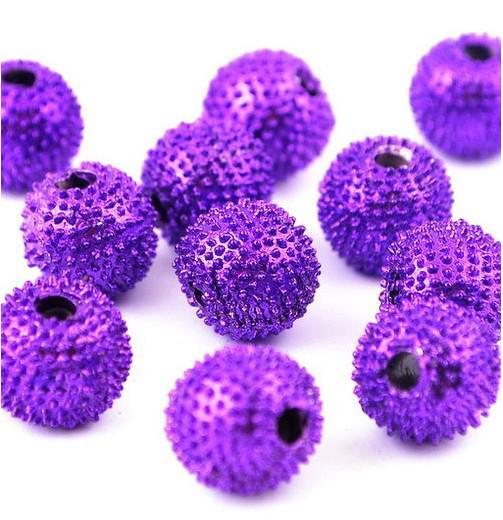 Perlas sueltas 8-10 MM Bola de discoteca cuentas para pulseras DIY 120 unids / lote diferentes colores disponibles joyería de moda