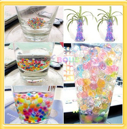 Wholesale Soil Free Shipping - Wholesale Home Use 3g bag Magic Plant Crystal Soil Mud Water Beads Pearl ADS Jelly Crystal Ball 300pcs lot Free Shipping