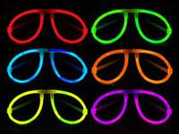 ingrosso vetri fluorescenti-Bicchieri a fluorescenza Glow Stick Occhiali a LED, vetri lucenti