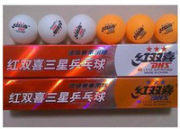 Wholesale Dhs Stars - New DHS Table tennis ball 3 star table tennis balls have eatch set has 6 balls