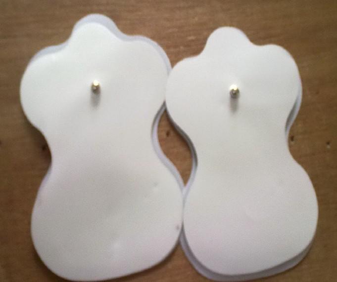 100 piezas máquina de la terapia Massager Pad cojines blancos del electrodo de los diez acupuntura digitales
