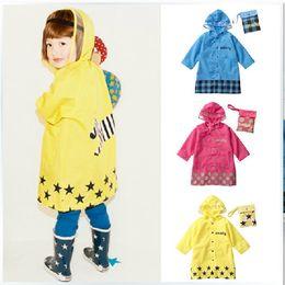 Wholesale Baby Waterproof Poncho - 2016 Cute Smally Children Raincoat Kids rain coat cape poncho baby kid raincoat waterproof coats Rain Gear