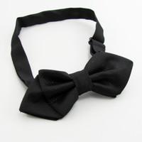 erkek boynu bağları toptan satış-Siyah kravat erkek bowties katı renk erkek yay bağları kravat knot erkek bağları cravat boyun kravat