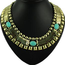 ¡Venta caliente! Joyería de las mujeres de la vendimia collar de la cadena del reloj del encanto de la turquesa joyería venta caliente en collar de la venda de la banda de Europa, NL-1657 desde fabricantes