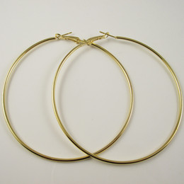 Wholesale Big Hoop Earrings Free Shipping - Free Shipping 72pcs(36pairs) Gold Plated Hoop Earrings Wholesale Fashion Earring Big Hoop Earring