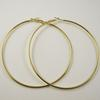 Free Shipping 72pcs(36pairs) Gold Plated Hoop Earrings Wholesale Fashion Earring Big Hoop Earring