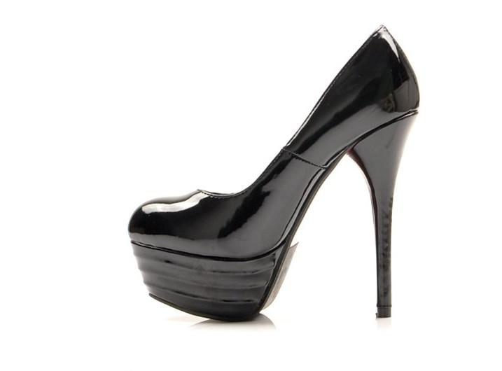 Sex Women High Heels Black Apricot Fashion Ladies Shoes Platform ...