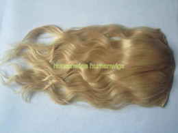 Canada one piece clip blonde hair extensions supply one piece 18 one piece clip in on human hair extensions100 human hair madelight blonde 613 from dropshipping suppliers pmusecretfo Images